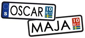Namnstatistik 2010 - Oscar & Maja