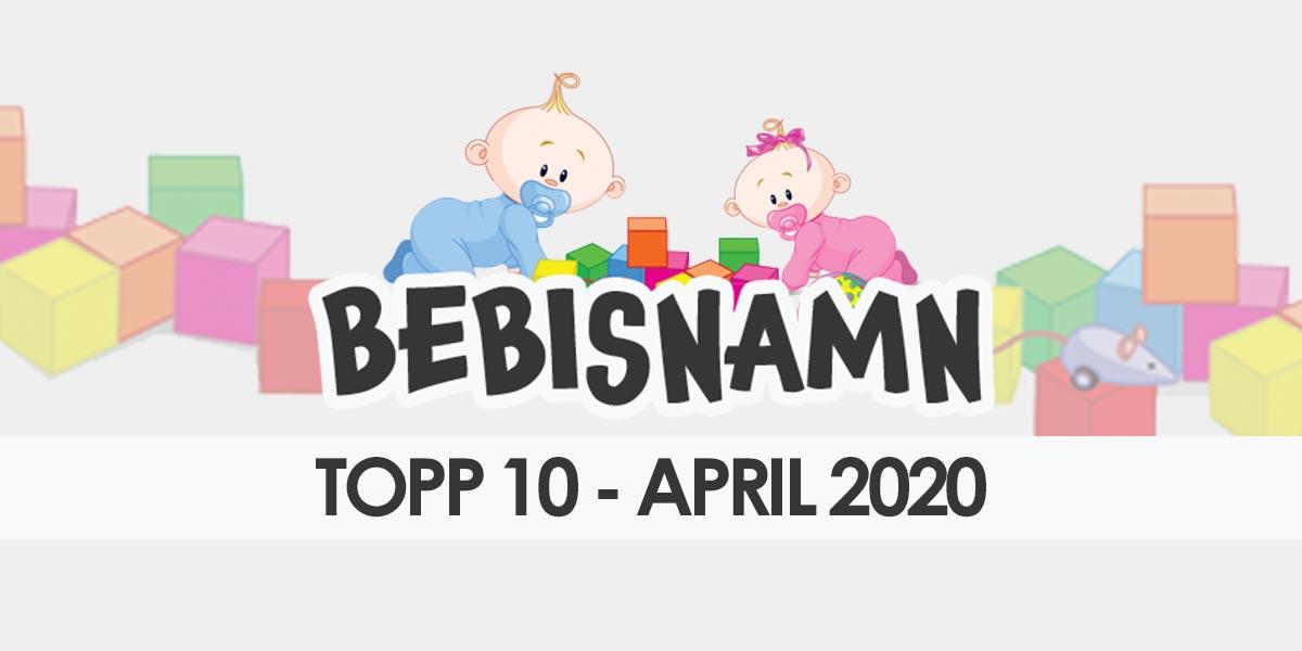 Topp 10 gillade barnnamn april 2020
