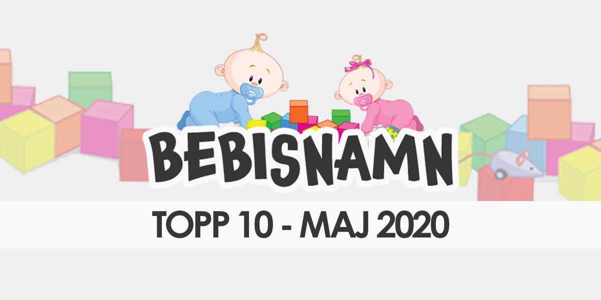 Bebisnamn maj 2020 - Topp 10 gillade