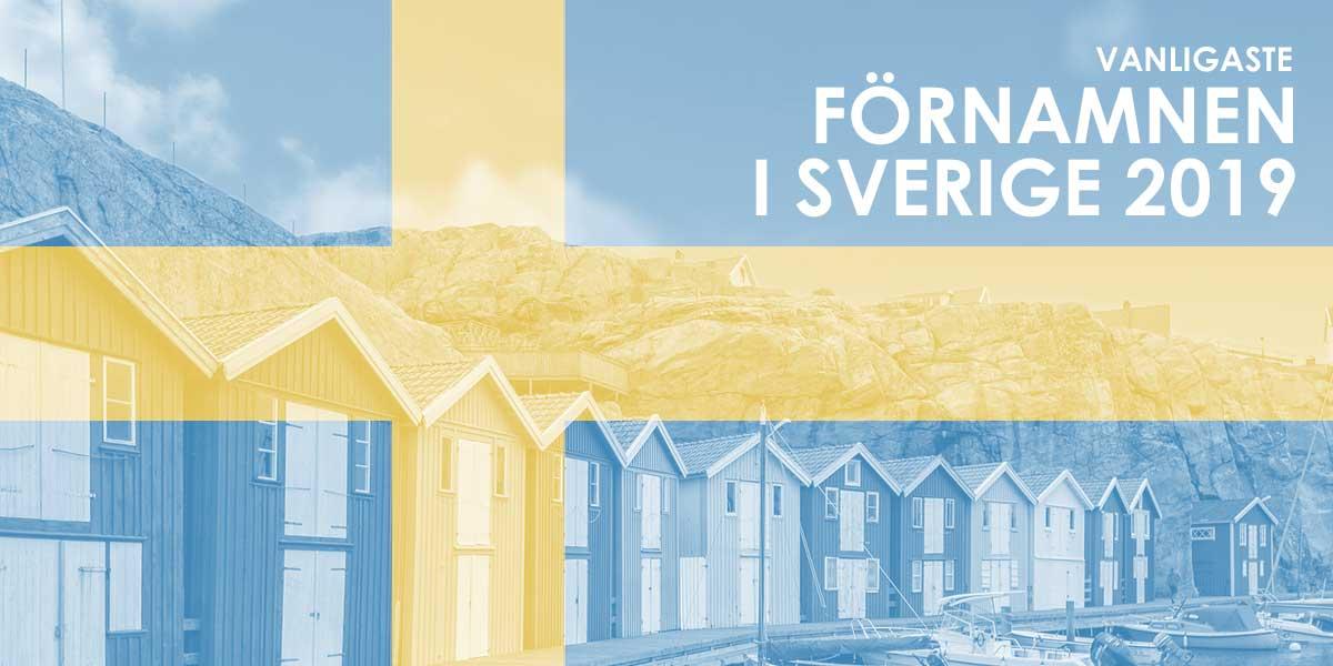 Vanliga killnamn & tjejnamn i Sverige