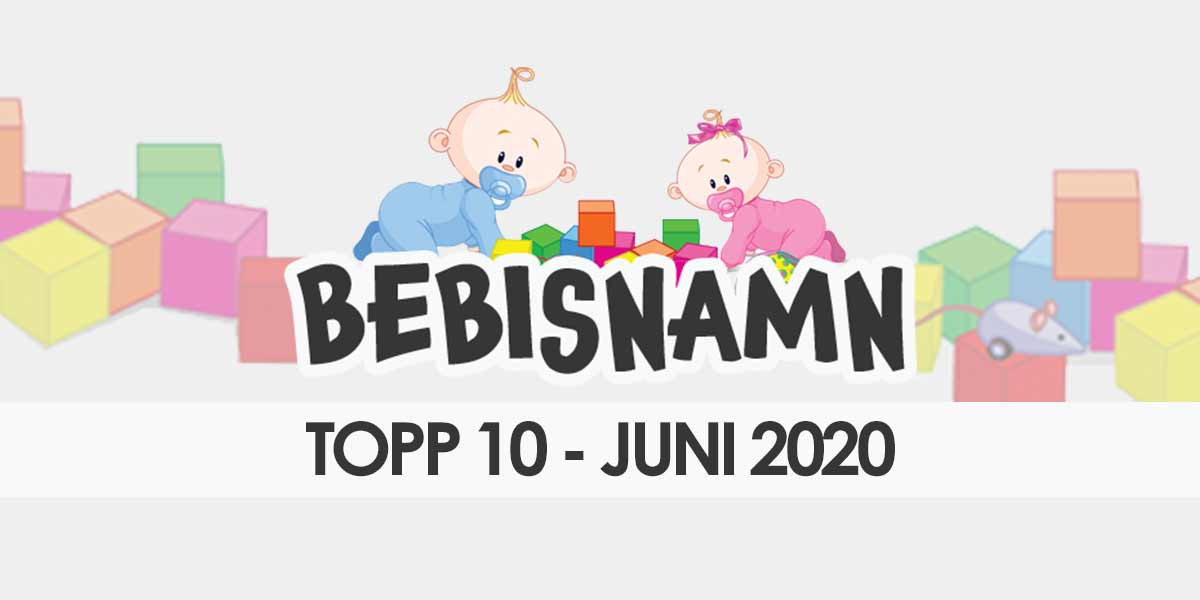 ♥ Tjej- och killnamn i juni 2020