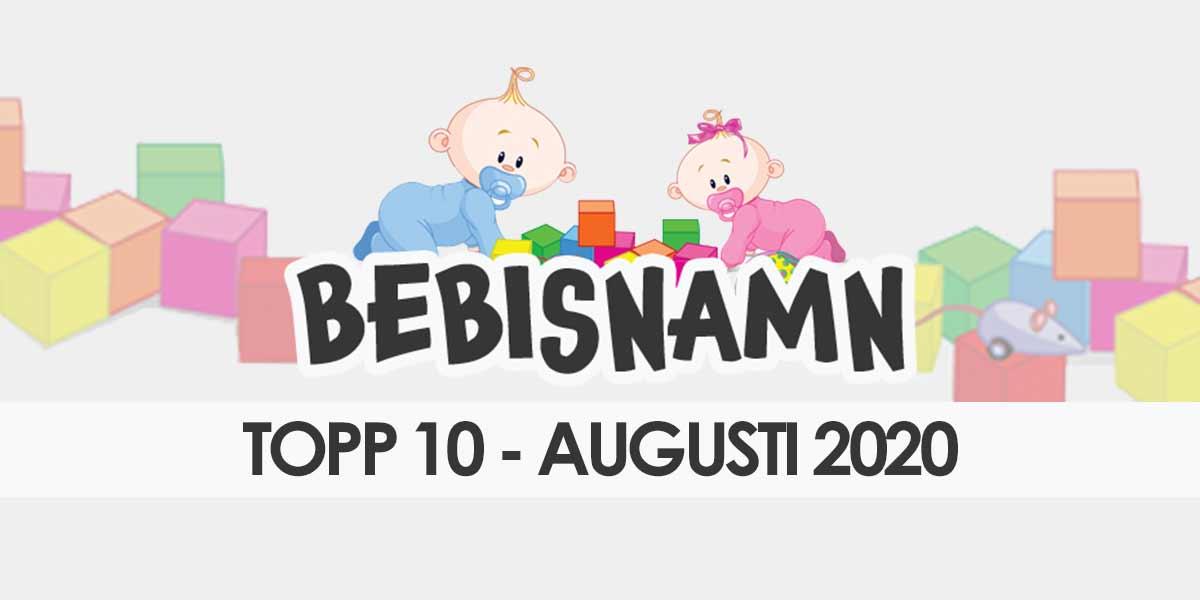Populärast flick- och pojknamn i augusti 2020
